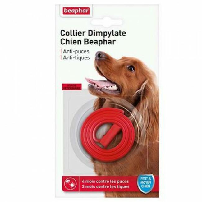Collier Dimpylate anti-puces et tiques pour petit et moyen chien