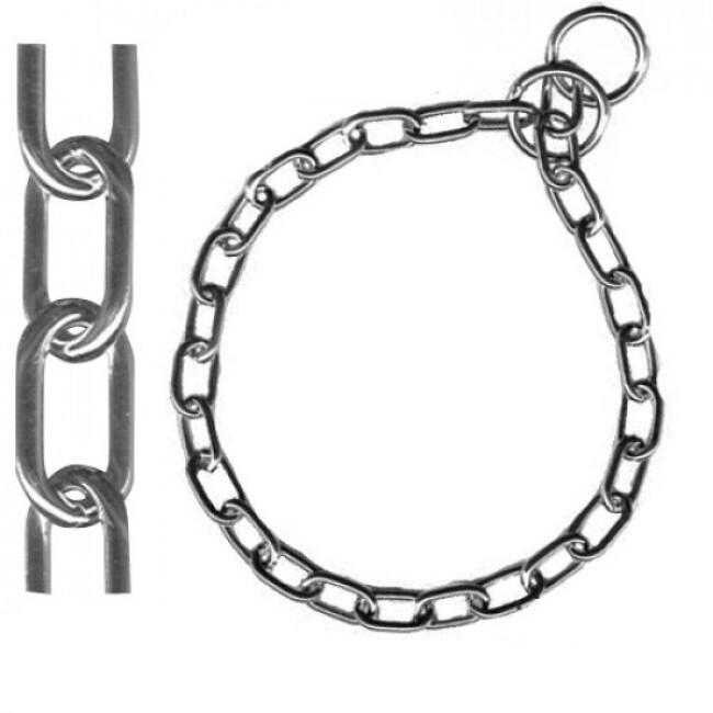 Collier étrangleur pour chien chaîne petite maille