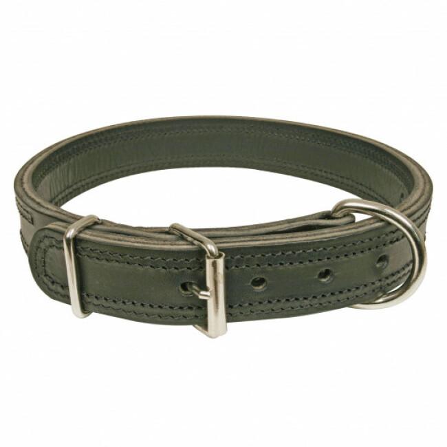Collier noir en cuir pour chien Dog Extreme