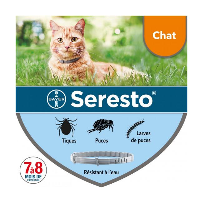 Collier Seresto Bayer Anti-puces et tiques pour chat