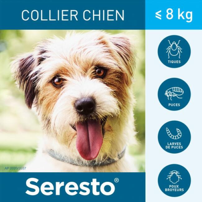 Collier Seresto Anti-puces et tiques pour chien
