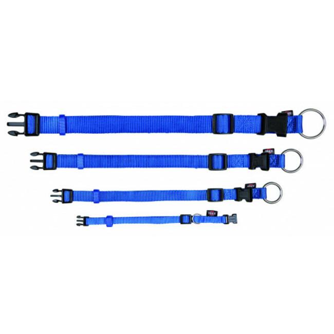 Collier Trixie Premium pour chien en nylon bleu