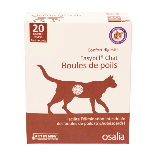 Complément alimentaire confort digestif pour chat Easypill Boules de Poils