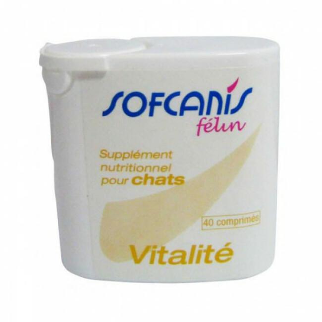 Complément alimentaire pour chat Sofcanis vitalité 40 comprimés