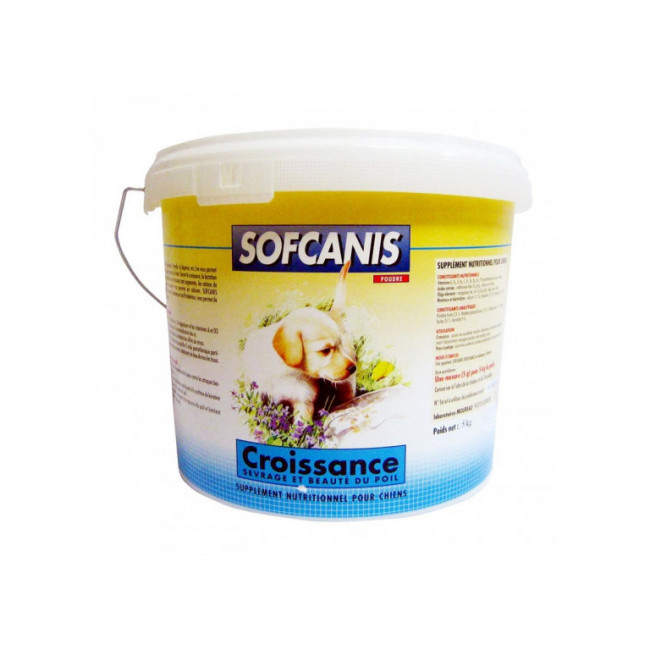 Aliment complémentaire pour chien en poudre Sofcanis croissance