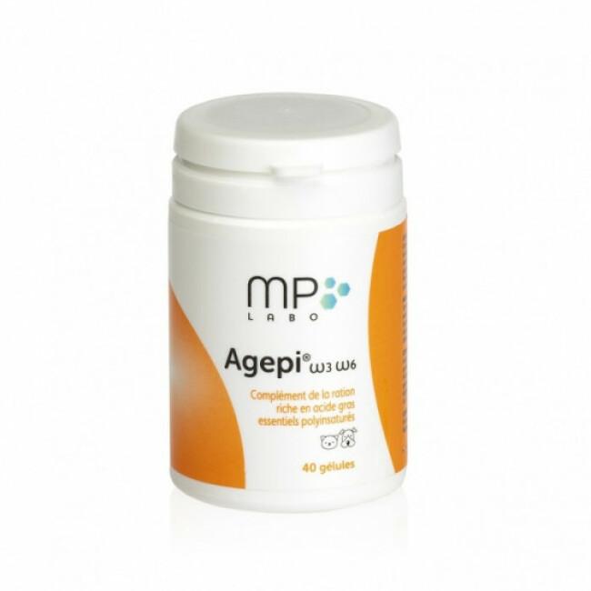 Complément alimentaire Agepi Omega 3 et 6 pour derme et pelage du chien et chat