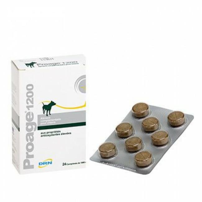 Complément alimentaire antioxydant Proage 1200 pour chien âgé ou de travail