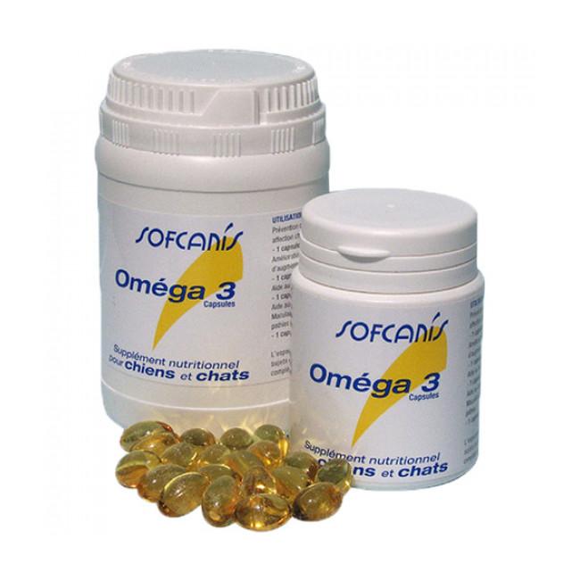 Complément alimentaire chien et chat Sofcanis Omega 3 boîte 120 comprimés