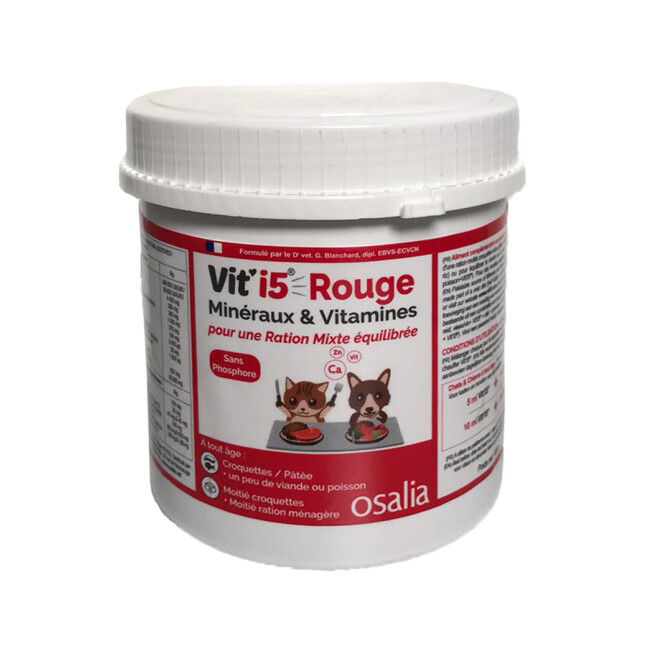 Complément alimentaire VITI'5 Rouge pour chien et chat