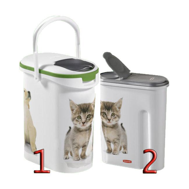 Container verseuse croquettes décor chat Petlife