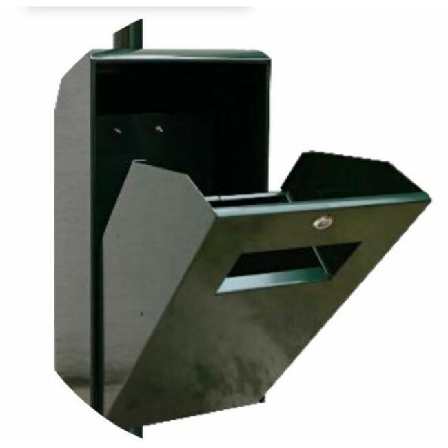Corbeille Hygie en aluminium 30 litres - 35 x 73 x 24 cm