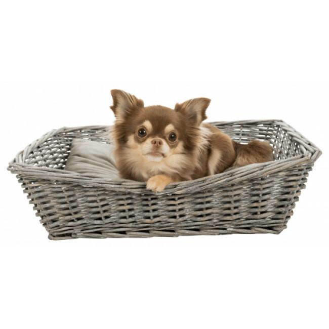 Corbeille pour chien en osier avec coussin Be Nordic