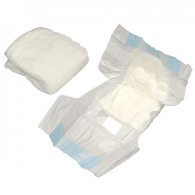 Couche culotte jetable blanche pour incontinence pour chienne