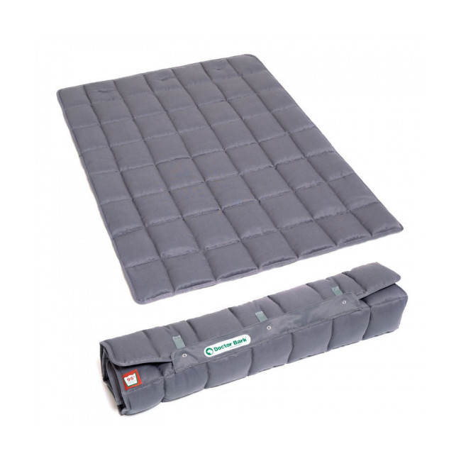 Couverture portable grise pour chien Doctor Bark Longueur 105 cm x largeur 70 cm