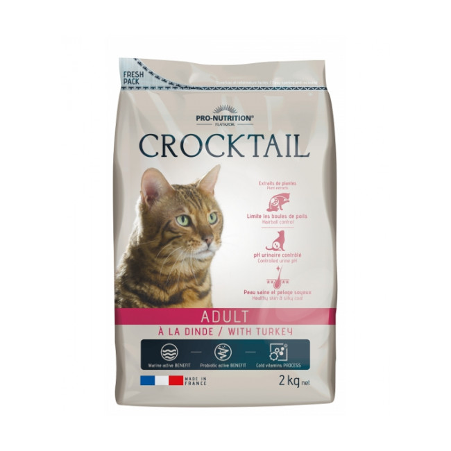 Croquettes à la dinde pour chat adulte Crocktail Flatazor Pro-Nutrition