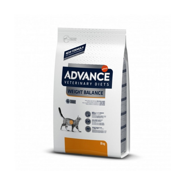 Croquettes Advance pour chats Veterinary Diets Weight Balance Feline