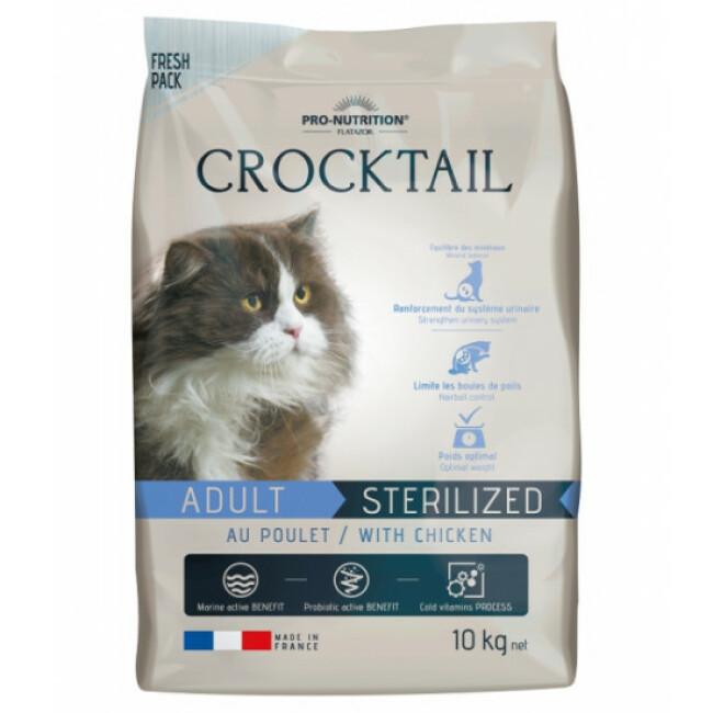 Croquettes au poulet pour chat adulte stérilisé Crocktail Flatazor Pro-Nutrition