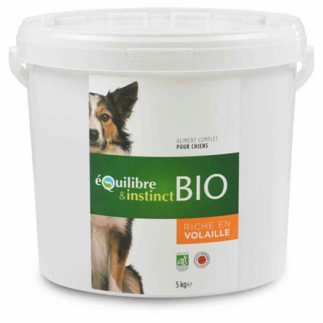 Croquettes BIO Equilibre & Instinct goût volaille pour chien