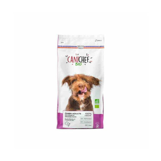 Croquettes Canichef Bio pour chien de moyenne et grande race