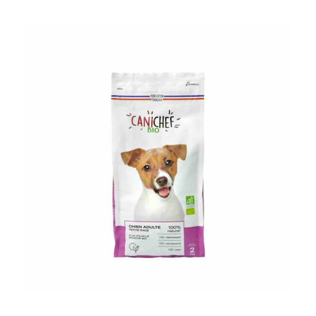 Croquettes Canichef Bio pour chien de petite race