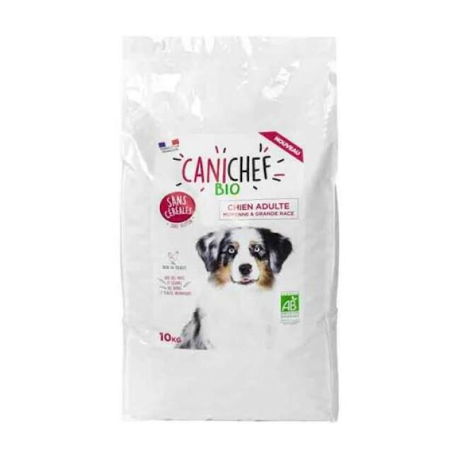 Croquettes Canichef Bio sans céréales pour chien de moyenne et grande race