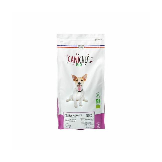 Croquettes Canichef Bio sans céréales pour chien de petite race