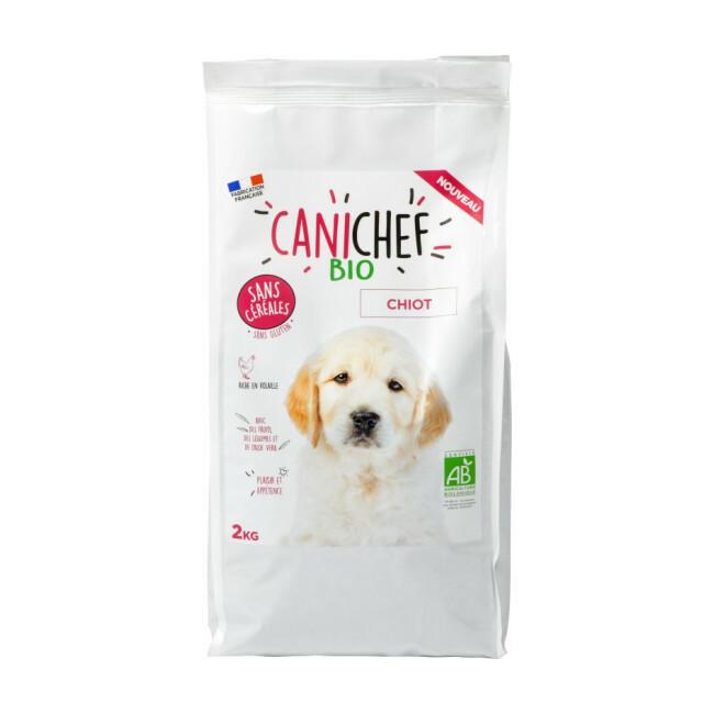 Croquettes Canichef Bio sans céréales pour chiot