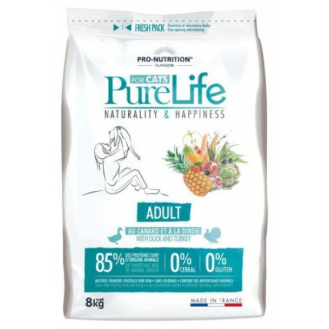 Croquettes chat sans céréales Pure Life Pro Nutrition Flatazor