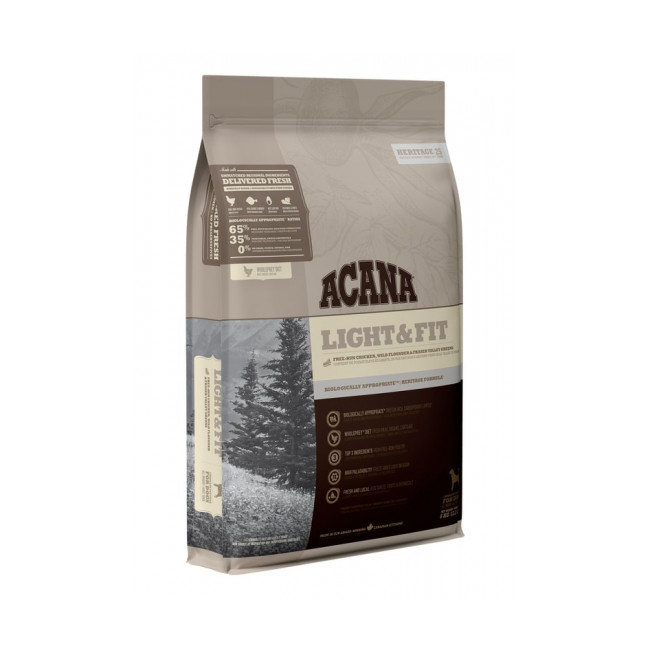 Croquettes chien Acana Heritage Light & Fit