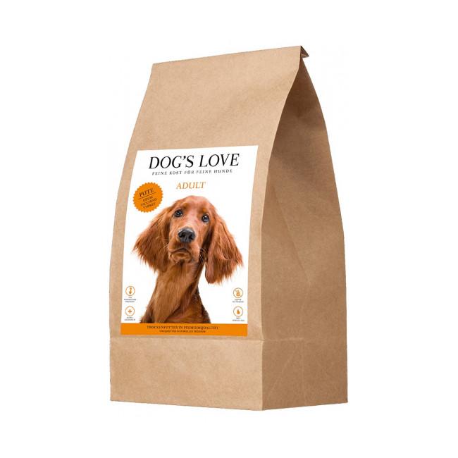 Croquettes Dog's Love sans céréales à la dinde pour chien