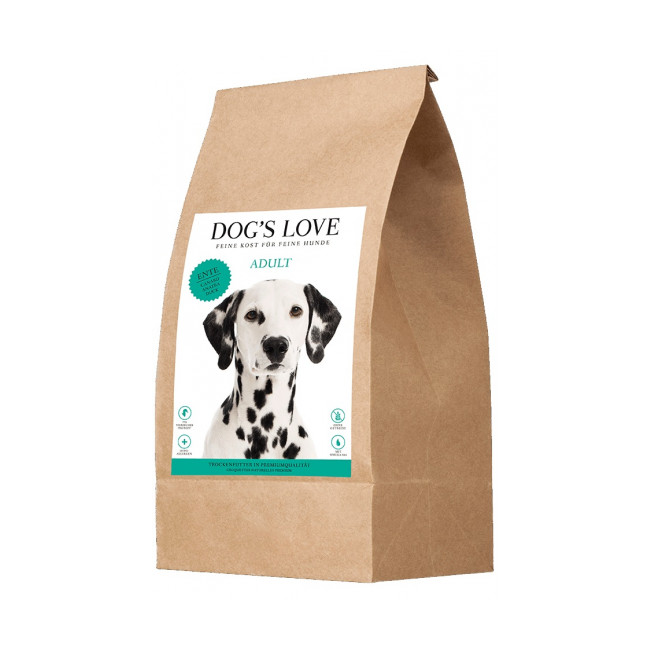 Croquettes Dog's Love sans céréales au canard pour chien
