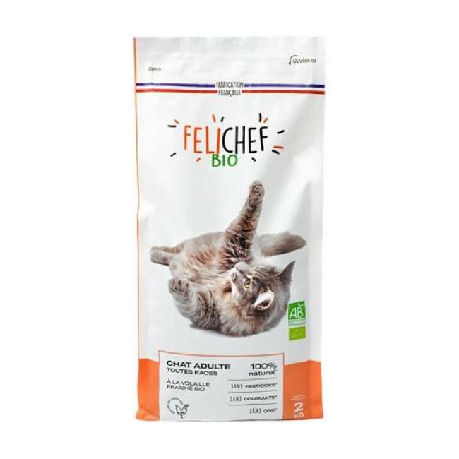 Croquettes Felichef Bio pour chat