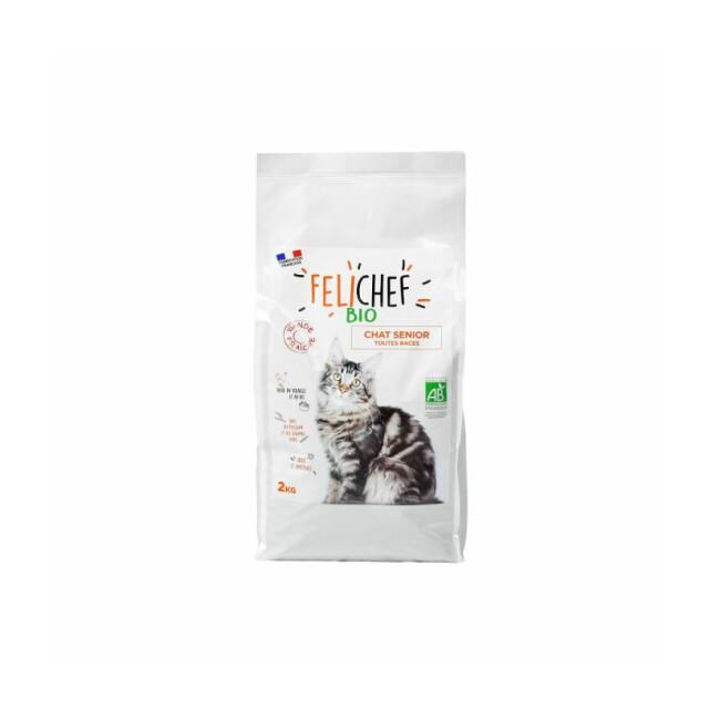 Croquettes Felichef Bio pour chat senior