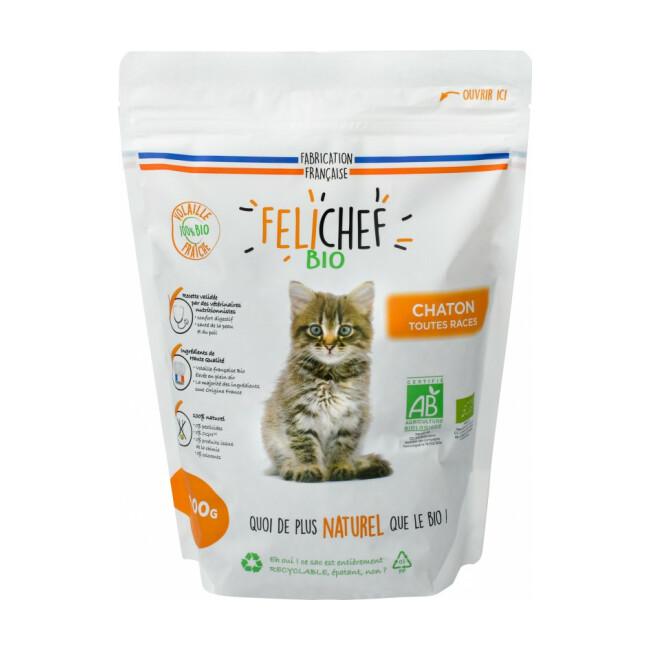 Croquettes Felichef Bio pour chaton
