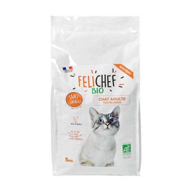 Croquettes Felichef Bio sans céréales pour chat