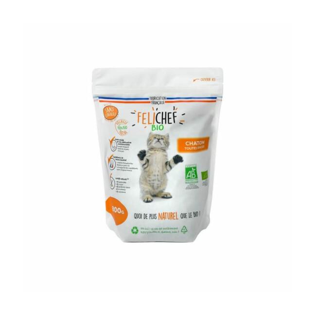 Croquettes Felichef Bio sans céréales pour chaton