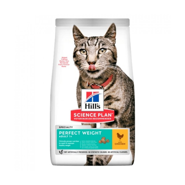 Croquettes Hill's Science Plan Adult Perfect Weight Poulet pour chat