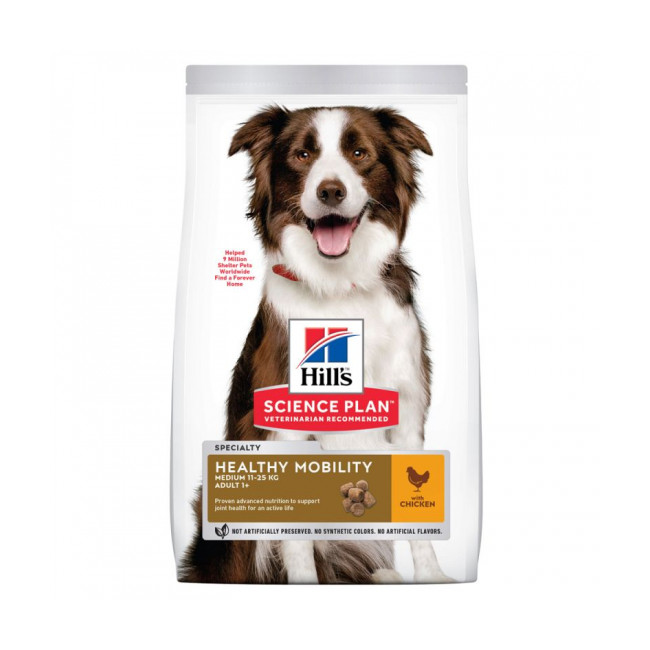 Croquettes Hill's Science Plan Canine Adult Healthy Mobility Medium Poulet Sac 14 kg