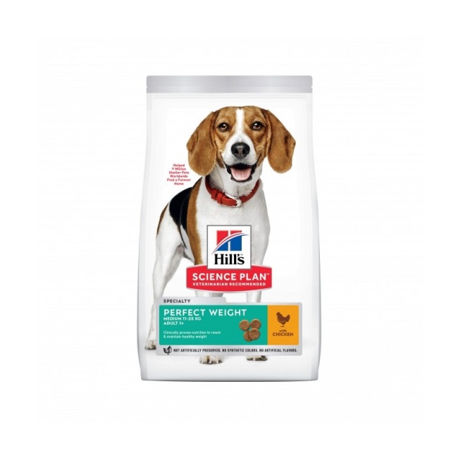 Croquettes Hill's Science Plan Canine Perfect Weight Medium Poulet Sac 12 kg