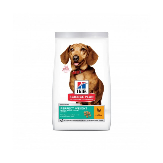 Croquettes Hill's Science Plan Canine Perfect Weight Small Mini Poulet Sac 1,5 kg