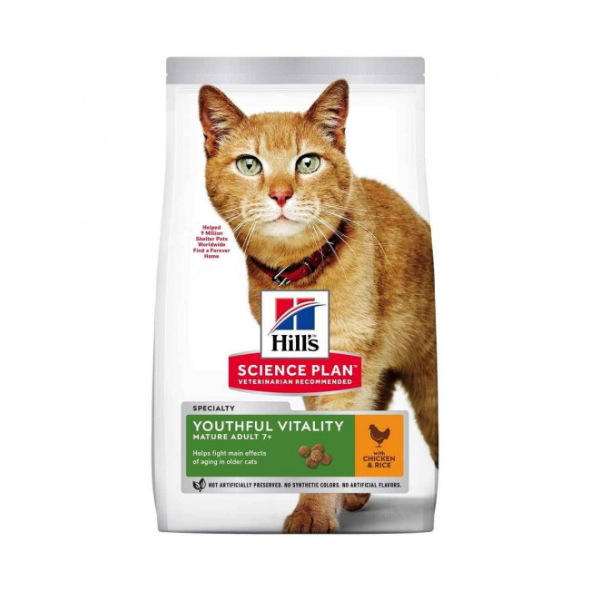 Croquettes Hill's Science Plan Feline Adult 7+ Youthful Vitality Poulet