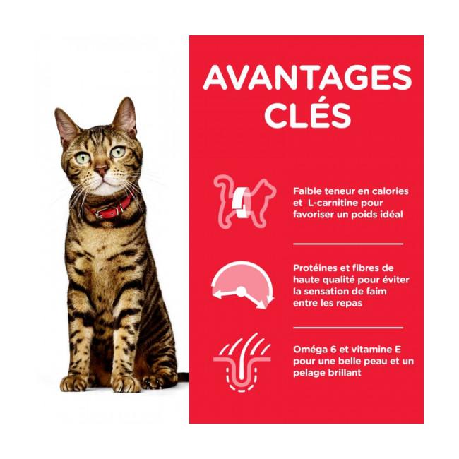 Croquettes Hill's Science Plan Feline light pour chat adulte
