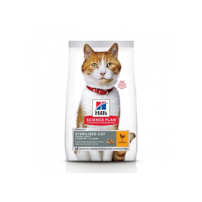 Croquettes Hill's Science Plan Feline Young Adult Sterilised au poulet pour chat