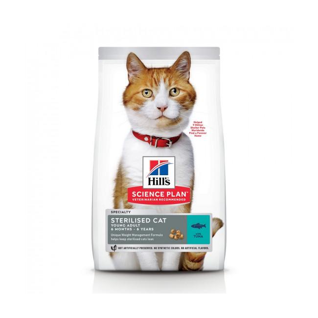 Croquettes Hill's Science Plan Feline Young Adult Sterilised au thon pour chat