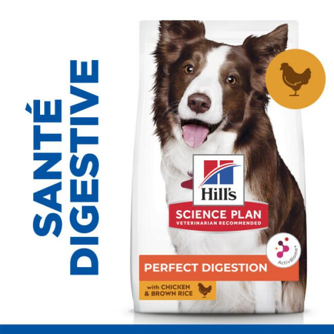 Croquettes Hill's Science Plan Perfect Digestion Medium au poulet pour chien adulte