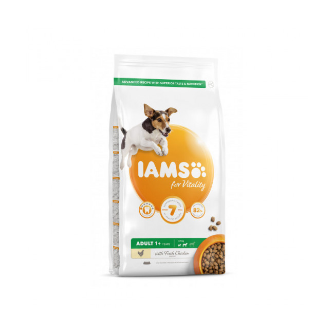Croquettes IAMS for Vitality au poulet pour chien Adulte de Petite et Moyenne race