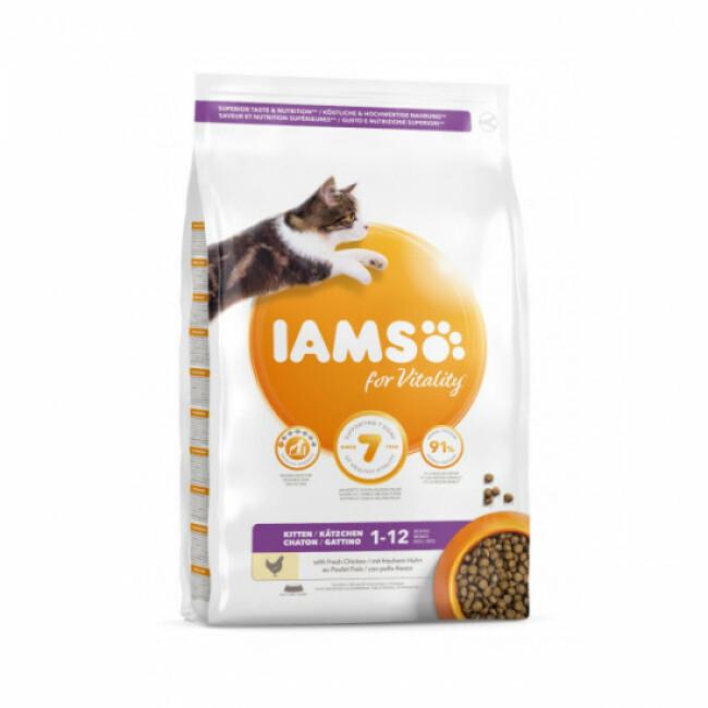 Croquettes IAMS Vitality au poulet pour chaton