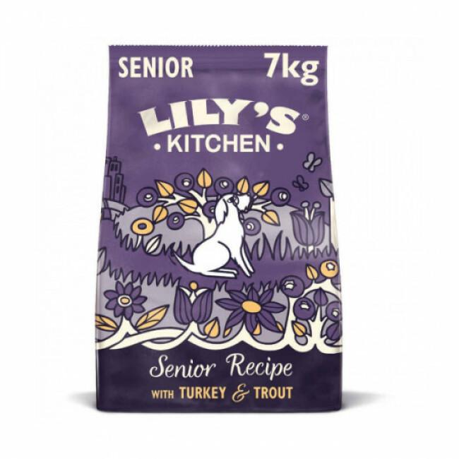 Croquettes Lily's Kitchen au saumon et truite pour chien senior (8 +)