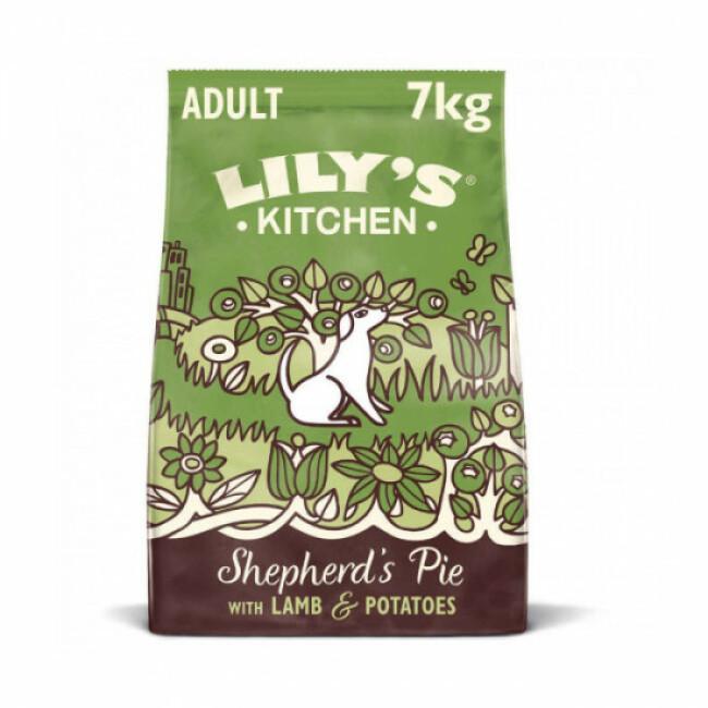Croquettes Lily's Kitchen sans céréales à l'agneau pour chien
