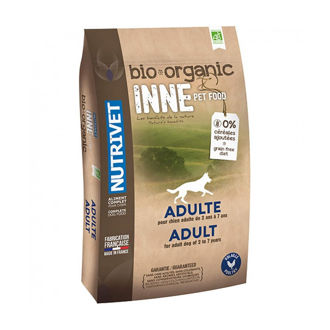 Croquettes Nutrivet Inne Bio pour chien adulte Sac 3 kg